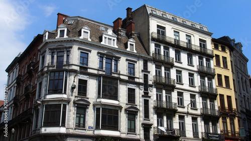 Foto Spatwand Brussel Brüssel: Altbaufassaden im Zentrum