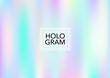 Magic Hologram Lights Vector Background. Soft Trendy Tender Pearlescent Rainbow Overlay. Rainbow Holographic Princess, Fairytale, Cute Girlie Paper. Unicorn Fairy Tale Rainbow Glitch Hologram Gradient