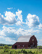 vertical barn quilt country landscape