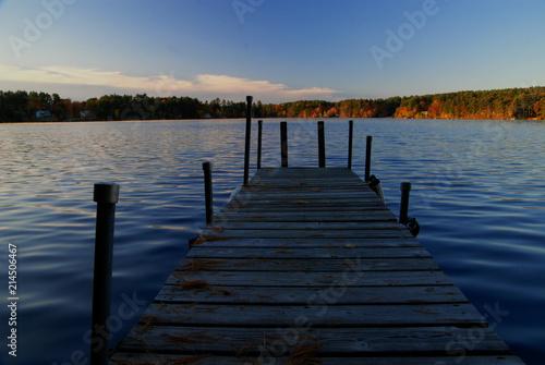 Acrylglas Pier Pier on lake, Massachusetts