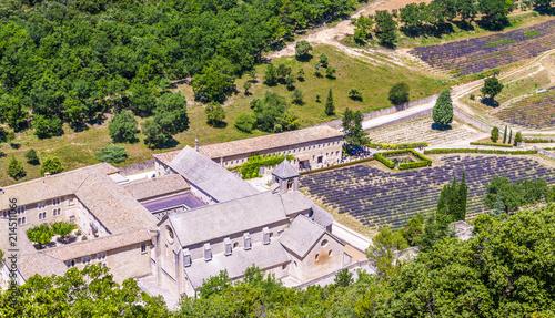 Canvas Lavendel Abbaye de Sénanque dans le Vaucluse en Provence, France