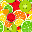 Mixed fruit Seamless Pattern background Vector Illustration