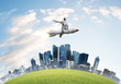 Leinwanddruck Bild - Business success and targets achievement concept.