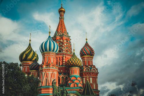In de dag Moskou Saint Basil's Cathedral