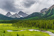 Beautiful valley with in Kananaskis country, Alberta Canada