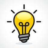 Vector light bulb design icon - 214553092