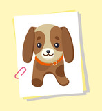 Dachshund Picture Poster, Vector Illustration