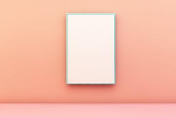 blue blank frame on a wall © georgejmclittle