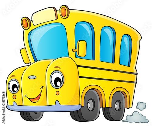 Canvas Voor kinderen School bus thematics image 1