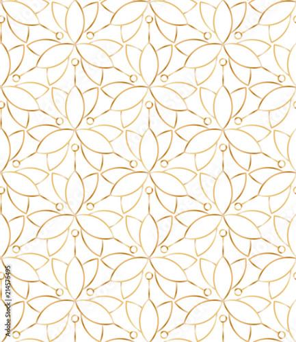 bezszwowy-liniowy-zloty-kwiatu-wzor-na-bialym-tle