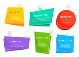 colorful origami style tags symbols