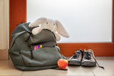 Shoes and School bag with cuddly toy, supplies and lunch - 214585000