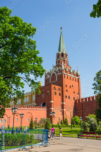 Foto Spatwand Moskou Towers Moscow Kremlin in solar weather