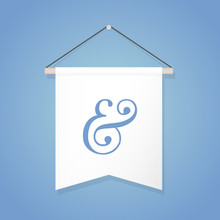 Pennant Illustration  Ampersand Sign  Illustration Flat Design Sticker