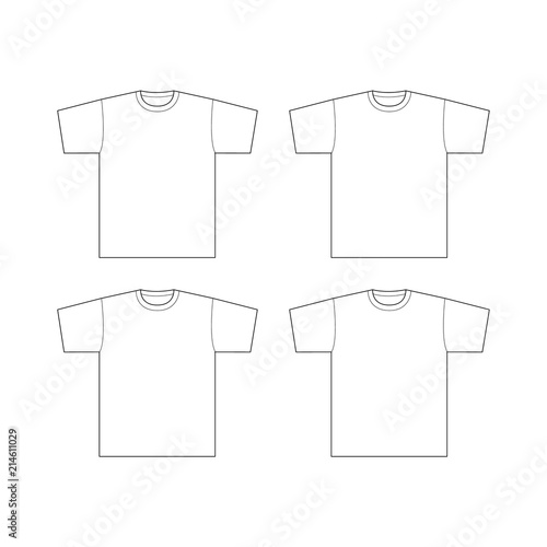 T-shirt template. Vector EPS 10 | Buy Photos | AP Images | DetailView