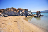 Geolagical stones formation on Kolymbithres beach - 214622240