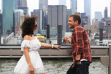 Young couple relaxing in new York during the holidays - 214636479