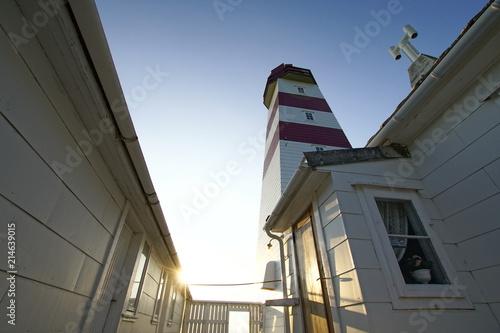 canvas print picture Leuchtturm Alnes Fyr nahe Ålesund