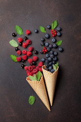 Ice cream with berries