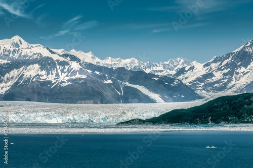 Foto Spatwand Groen blauw Hubbard glacier Alaska