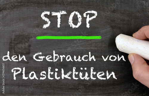 Foto Murales Stoppt den Gebrauch von Plastiktüten
