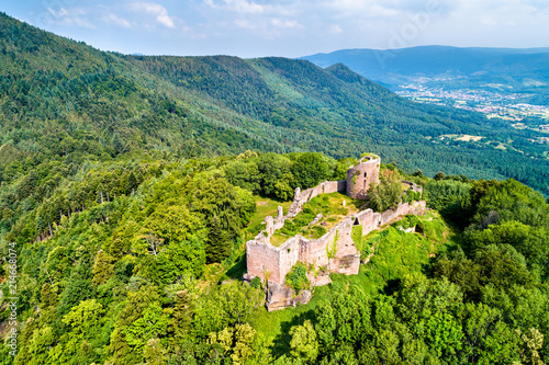 Frankenbourg castle in the Vosges Mountains, France