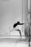 Beautiful ballerina training in the class - 214673659