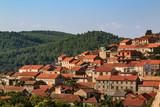 Citiscape of the Mediterranean town of Blato on Korcula island, Croatia - 214684487