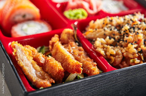 Fresh Food Portion in Japanese Bento Box