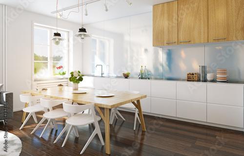Leinwandbild Motiv modern kitchen interior.