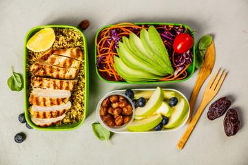 Healthy lunch in boxes © Natalia Klenova
