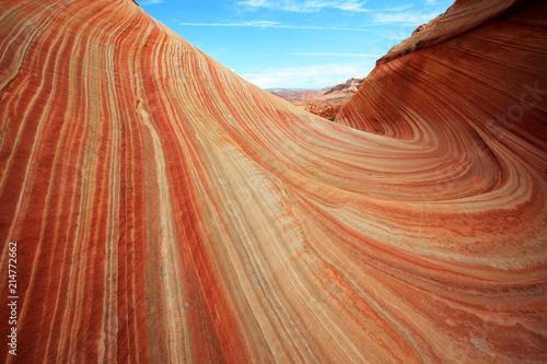 Foto Spatwand Arizona Coyote Buttes North, The Wave, Arizona, USA