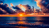 Colorful sunset over ocean - 214773671