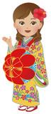 Women in Okinawa national costume in Japan - 214773856