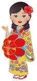 Women in Okinawa national costume in Japan - 214773872