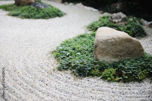Plexiglas Zen Stenen japanese zen stones garden with space background