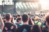 Summer festival concert crowd