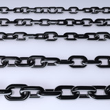 Metal chains colored silver 3d illustration - 214791042