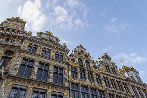 Foto Spatwand Brussel Ornate buildings at Brussels