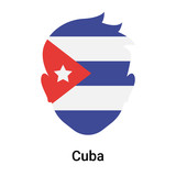 Cuba icon vector sign and symbol isolated on white background, Cuba logo concept