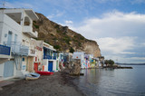 Traditional Colorful Greek Fishing Village Houses in Klima, Milos, Cyclades, Greece - 214806227