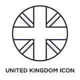 United kingdom icon vector sign and symbol isolated on white background, United kingdom logo concept - 214810690