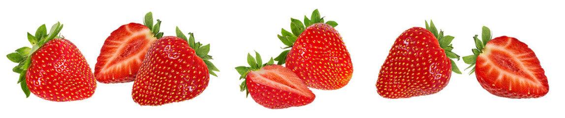 Fresh strawberry isolated on white background with clipping path © Ekaterina