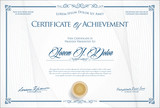 Certificate or diploma retro template vector illustration
