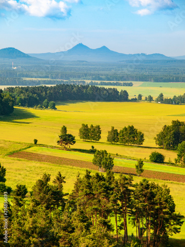 Aluminium Meloen Landscape around Bezdez Castle on sunny summer day. Czech Republic.