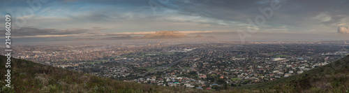 Panoramic views over cape town at dawn - 214860209