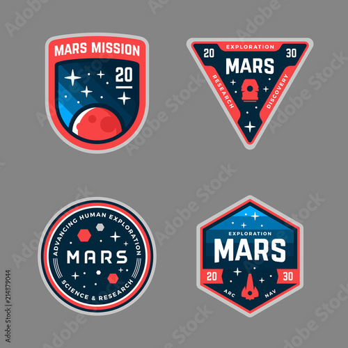 Mars mission patches - 214879044