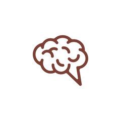 brain shape vector logo © micropix