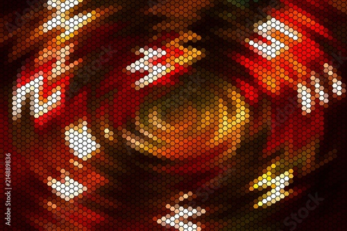 Abstract blurred of color glittering shine blubs lights background blur of Christmas wallpaper decorations concept. X-mas holding festival backdrop : sparkle circle light celebrations display. heart