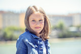 Outdoor portrait of cute young girl - 214898433